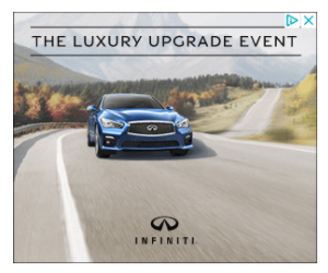 Infiniti auto ads review