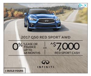 Infiniti car ads